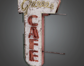 3D model PAS - Post Apocalyptic Abandoned Sign 05 - PBR 1