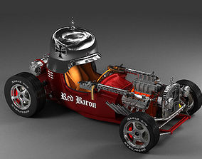 3D model Red Baron Hot Rod