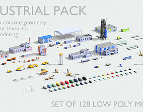Industrial models pack 3D asset game-ready collect