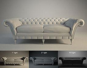 3D model Sofa capitoneado