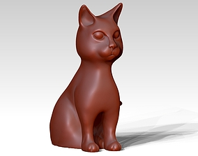 3D print model sitting cat statue