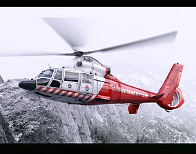 3D model Eurocopter AS-365 Air Ambulace