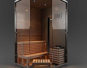 Sauna Cabinet 3D model