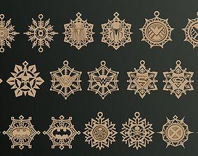 Snowflakes Heroes 3D print model