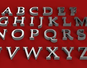 CONSTANTIA font uppercase and lowercase 3D letters STL