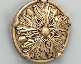 3D model carving Round rosette 023