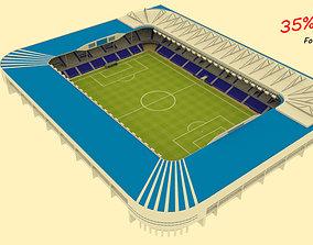 3D asset Mendizorroza Stadium