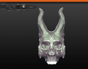 3D printable model Demonic Skull