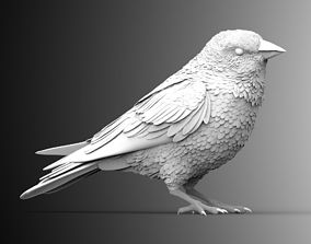 3D print model 3d bird sparrow greenfinch