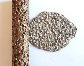 3D print model Skulls texture rolling pin