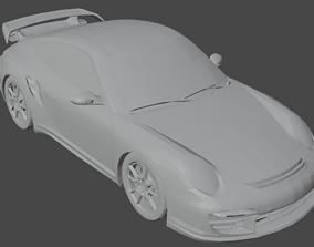 sport-car Porshe 911 GT2 3D model