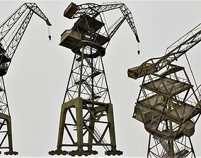 Large Old Crane PBR 3D asset