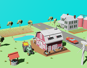 farm pack 3D asset game-ready