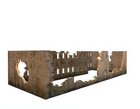 3D asset Damaged-Destroyed Building 4