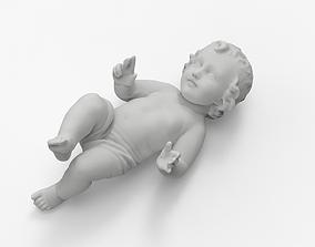 3D print model Baby Jesus in a Crib