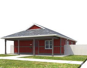 3D model bungalow House-058