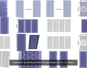 decorative 3d panels and doors sheets designs for cnc