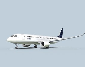 3D model Bombardier CS100 Portor
