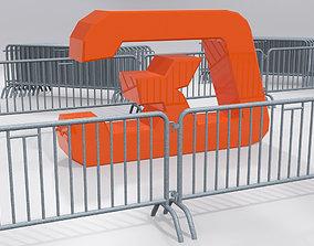 3D model Crush barrier fence