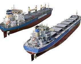 3D model Pack Bulk carrier ships COSCO