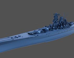 3D print model BATTLESHIP YAMATO