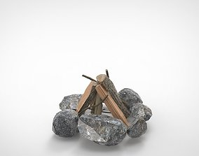 3D asset game-ready CampFire