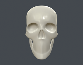 Stylized 3D model of a human skull