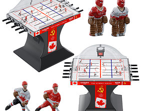 Bubble hockey 3D model