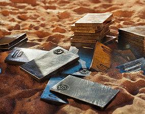game-ready Mandalorian Beskar Steel Ingots - 3D Asset Kit