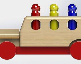 truck wood 3D model