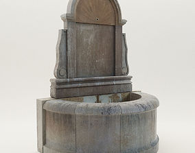 3D model Baroque wall fountain - 21th century - EHRL