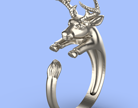 3D printable model ram sheep ring