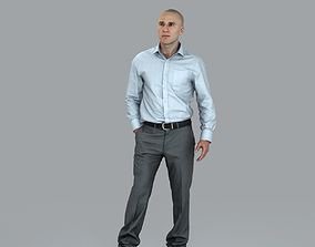Business Man with Hand in Pocket BMan0006-HD2-O01P08-S 3D