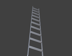 Ladder 3D asset low-poly