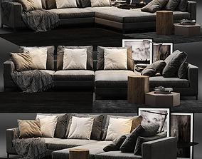 Minotti Andersen sofa A 3D model