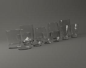 GLASSWARE---Water Glass 001-011 3D
