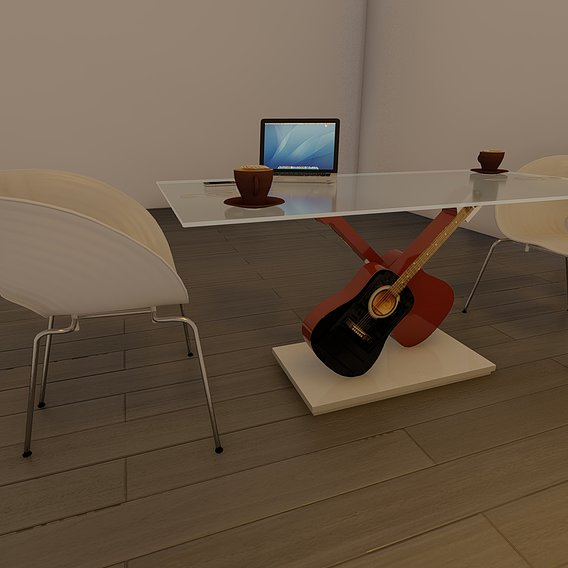 Dining table - Guitars
