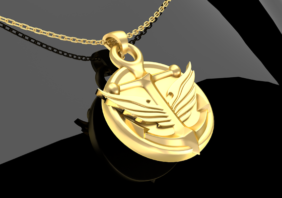 Medal Anchor Jewelry Gold 3D print model