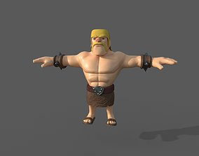 3D clash of clans barbarian
