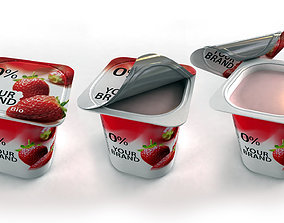 3D model Openable Yogurt Cup