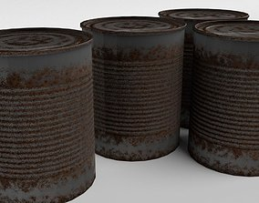 3D asset Rusty Tin Can