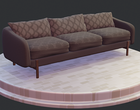 Sofa - 6 color variants 3D model PBR