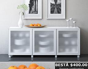 IKEA BESTA Storage combination with doors 3D model 2