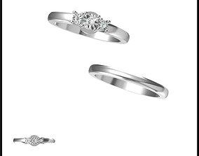 Mens bridal set rings rhinoceros 3d jewelry design