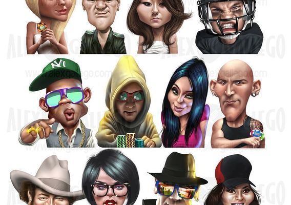 Avatars and stickers for app and game.