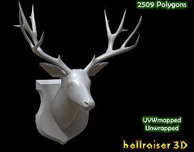 Deer Head 3D asset VR / AR ready