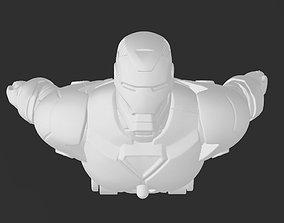 Classic Marvel Comics Iron-Man Flying 3D Print Model