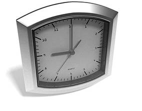 White And Grey Metal Clock 3D