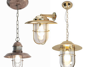 3D Copper and Bayonne Cage Lamps