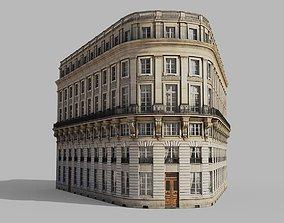 3D asset Neoclassic corner facade